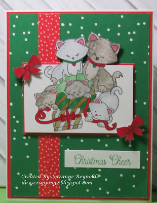 Christmas cheer by Suzanne features Newton's Christmas Kittens by Newton's Nook Designs; #newtonsnook