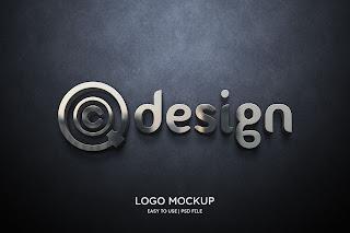 3D Wall Logo Mockup Free Download - creatives design