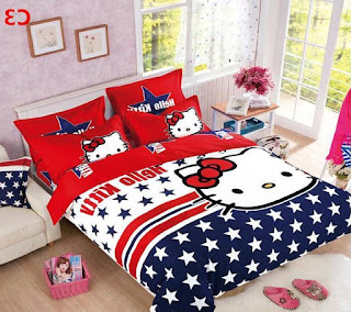 Gambar Sprei Motif Hello Kitty yang Lucu 6