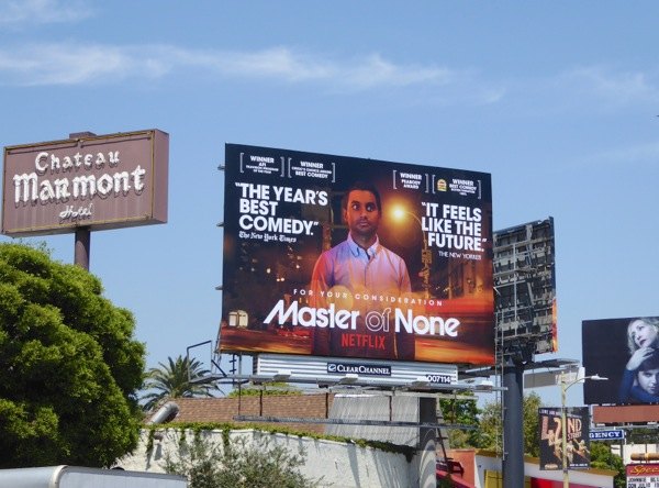 Master of None season 1 Emmy consideration billboard