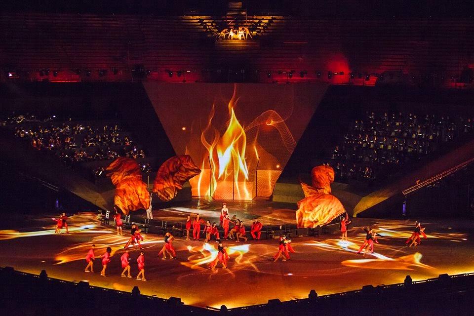 intimissimi on ice opera pop 2014, carolina kostner, stéphane lambiel, arena di verona, pattinaggio sul ghiaccio