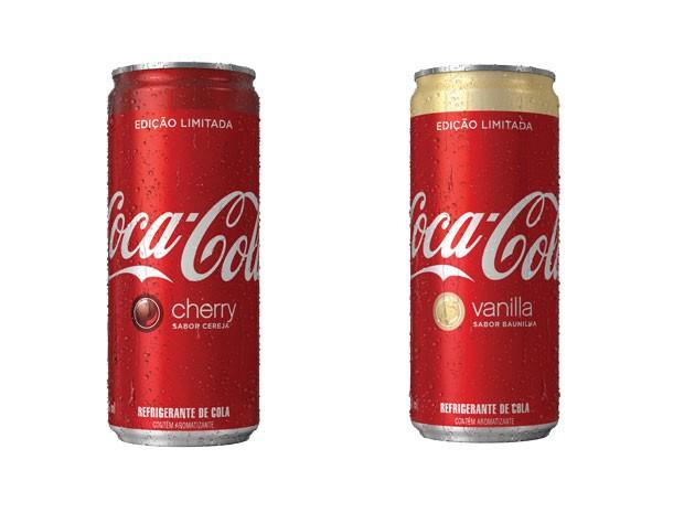 Lançada no Brasil edição limitada de Coca-Cola sabor baunilha e cereja