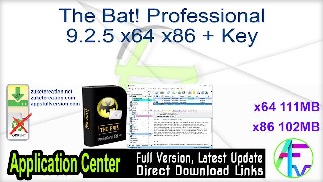 The Bat! Professional 9.2.5 x64 x86 + Key