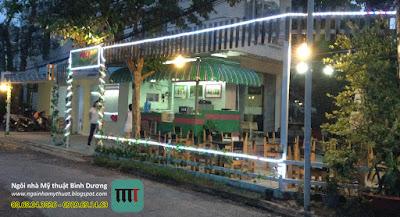 Thiết kế thi công quán cafe rẻ đẹp tại Bình Dương