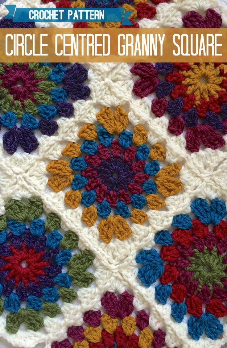Circle Centred Crochet Granny Square :: A Pattern :: – Vicki Brown ...