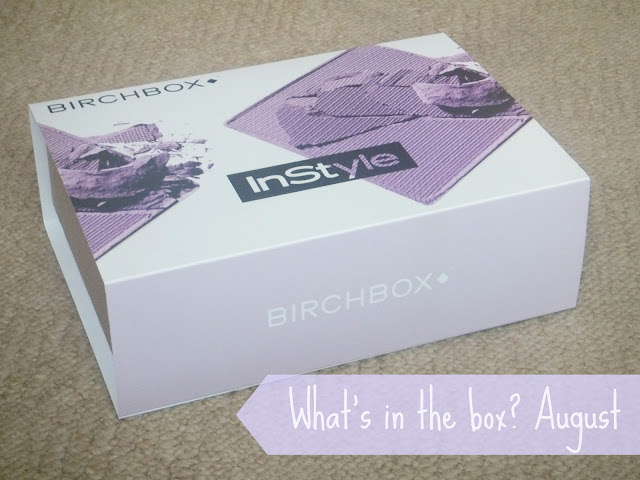 Birchbox Beauty Sample Box, Instyle Edit Birchbox, Birchbox August 2013