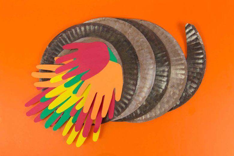 Handprint Cornucopia craft for kids