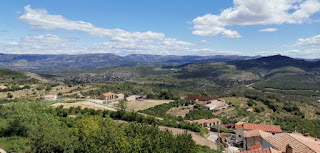 Vistas de Culla desde los miradores, provincia de Castellón.
