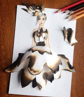 رسمة للفنان إيدجر باستخدام القشور