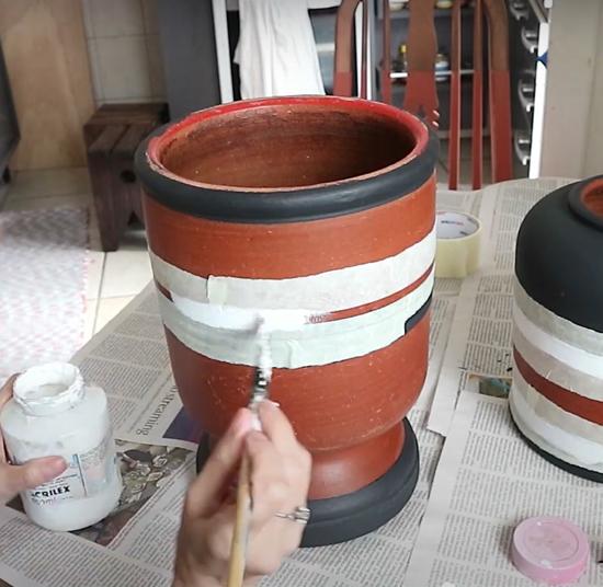 filtro de barro colorido