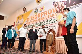 Buka Musorprov Sumut, Gubernur Edy Rahmayadi Targetkan Juara Umum PON 2024