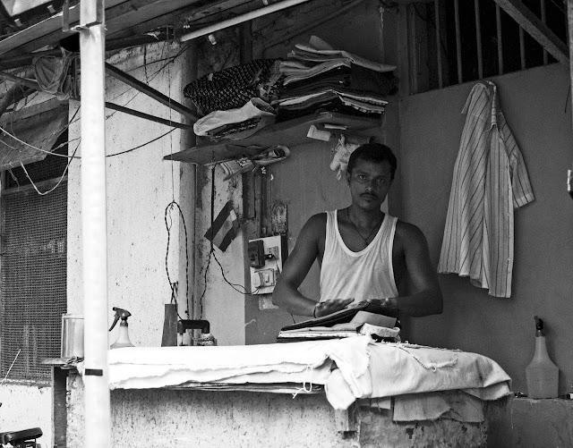 istriwala, iron man, street, lalbaug, mumbai, incredible india, monochrome monday, black and white weekend,