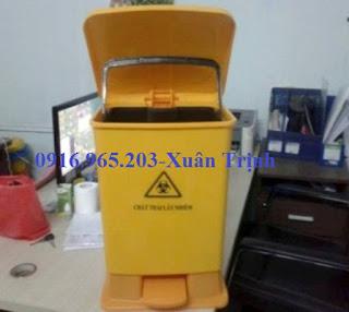 Thùng rác y tế 20L màu vàng đựng rác lây nhiễm