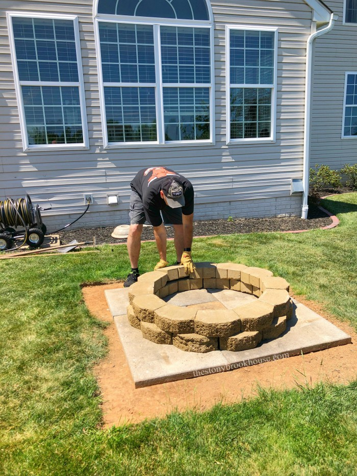 Finishing Fire Pit Ring