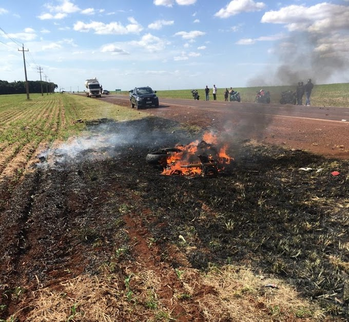 Motociclista morre após colisão frontal com caminhão na PR-182 Entre Toledo e Maripa