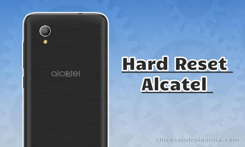 Restablecimiento de fábrica Alcatel