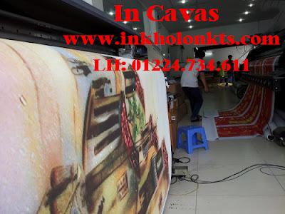 Xưởng in Cavas tại Thiên Mã