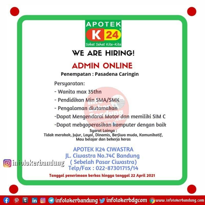 Lowongan Kerja Admin Online Apotek K24 Bandung April 2021