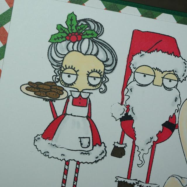[DIY] Artig oder Nicht artig Weihnachtskarte mit Santa Claus und Mrs Santa