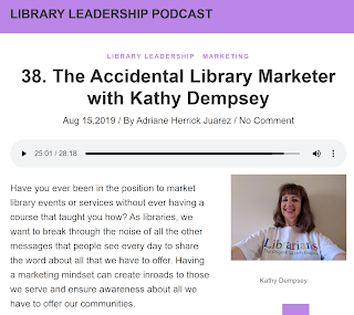 screenshot of Dempsey's episode of the Library Leadership Podcast