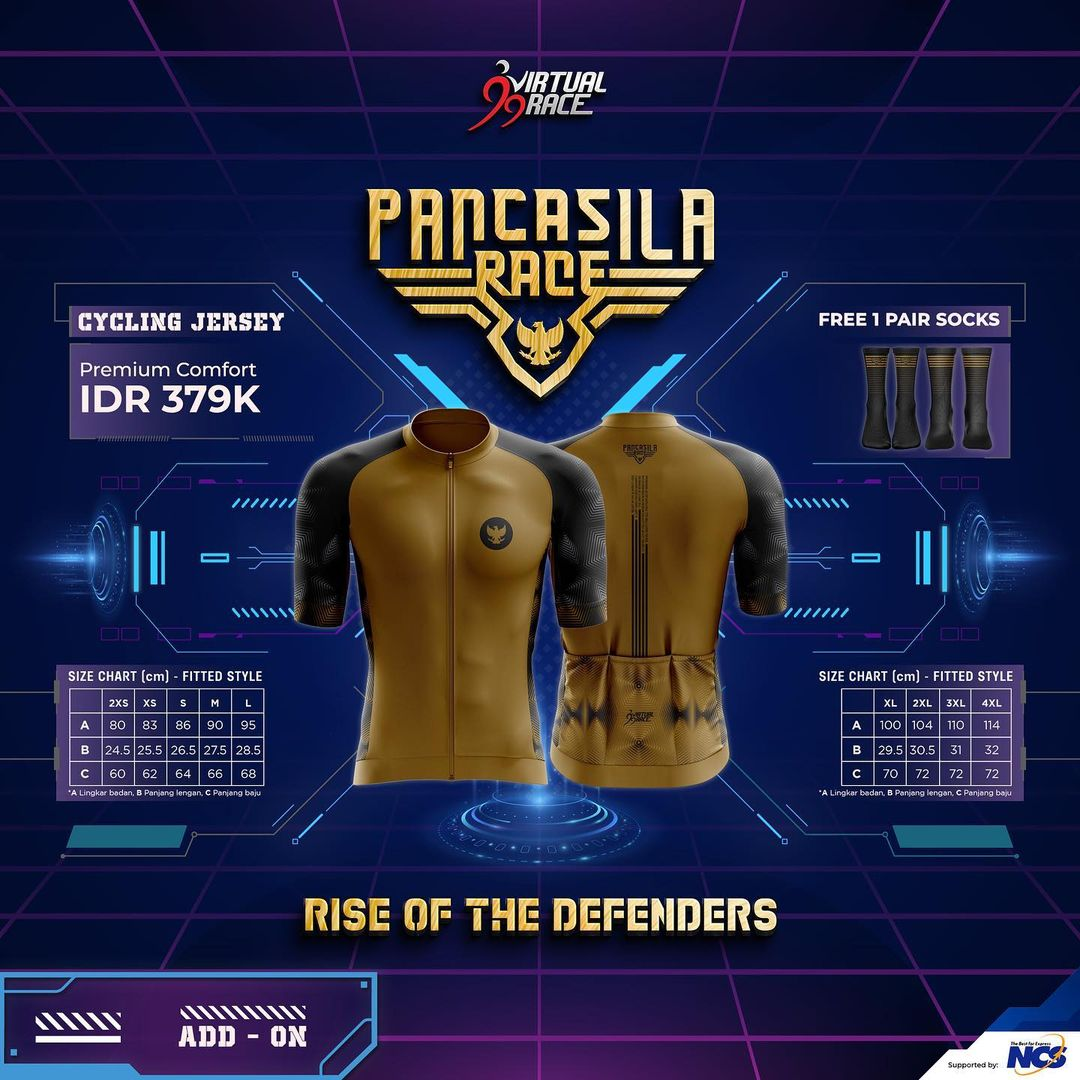 Cycling Jersey 🎽 Pancasila Race - Rise of The Defenders • 2021