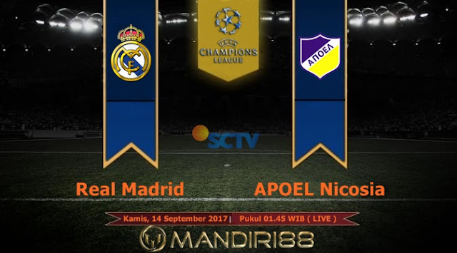 Prediksi Bola : Real Madrid Vs APOEL Nicosia , Kamis 14 September 2017 Pukul 01.45 WIB @ SCTV