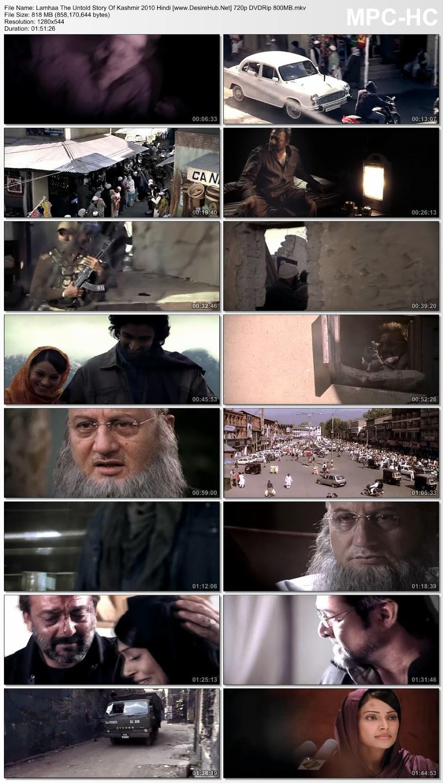 Lamhaa The Untold Story Of Kashmir 2010 Hindi 480p DVDRip 300MB Desirehub
