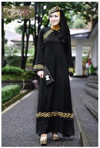 Kumpulan Model Baju Muslim Gamis Modis Masa Kini Bahan Sifon Terbaru