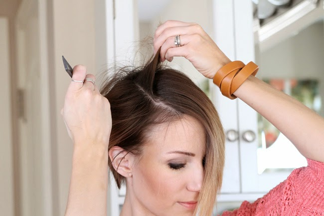 How to Curl a Long Pixie with a flat iron