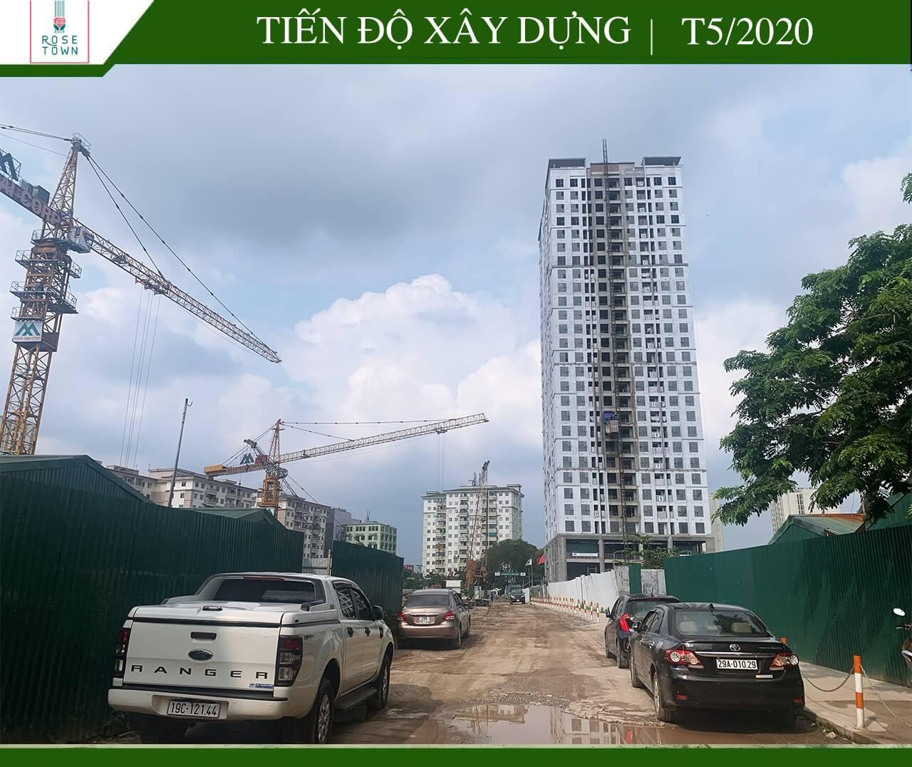 Cập nhật tiến độ xây dựng dự án Rose Town Ngọc Hồi