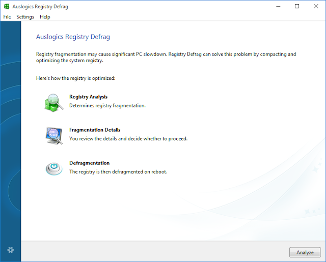 Registry Defrag Auslogics Boost Speed 8