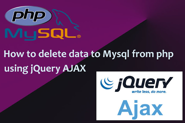 How to Delete record to MySql from PHP using jQuery AJAX