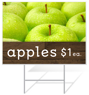 Apples for Sale Lawn Sign | Lawnsigns.com