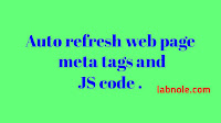Auto refreshweb page meta tags and js image