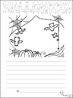 Halloween themed classroom Display Banner; Halloween Activity: Scavenger Hunt Recording Sheet