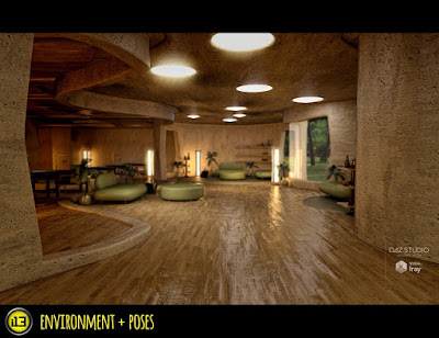 i13 Spa and Lounge Environment with Poses