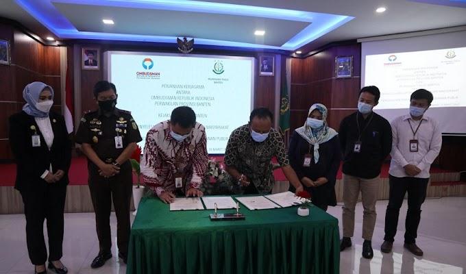 Ombudsman RI Banten dan Kejati Banten Tandatangani Perjanjian Kerjasama