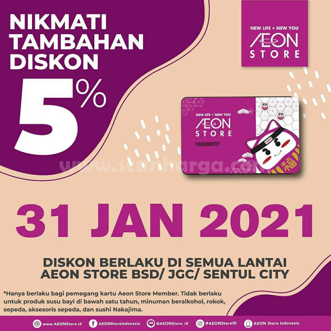 AEON Store Member's Day! Nikmati Diskon Tambahan 5%