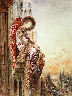 Angel Traveller is a painting by Gustave Moreau (1826-1898)
