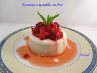 Pannacotta a la vainilla con fresas