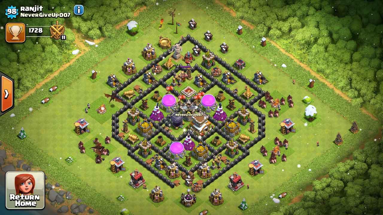 Town Hall Clans Tesla Best 7 Base Clash No Hidden