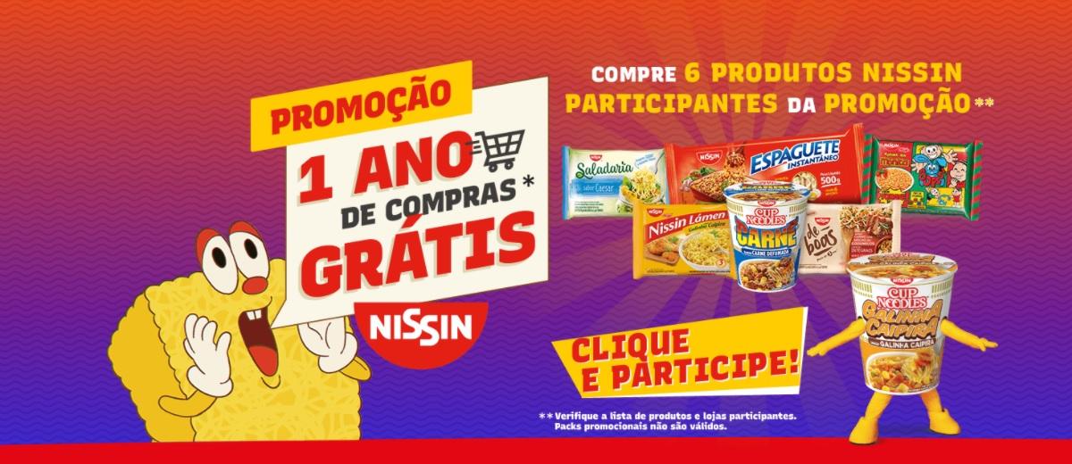 Promoção Nissin 2021 Concorra 1 Ano de Compras Grátis