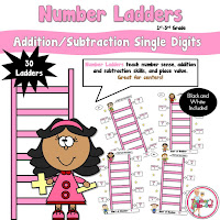Single Digits Number Ladders