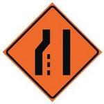 left lane ends in spanish