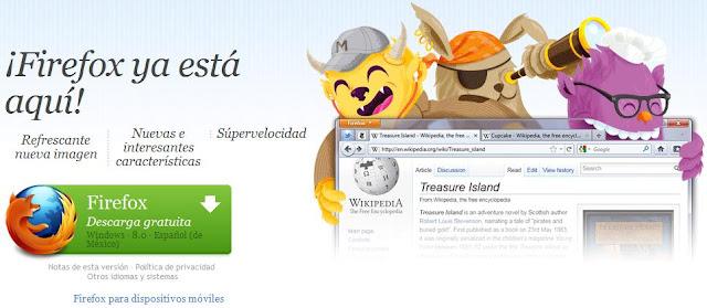 Descargar Firefox 8 Gratis