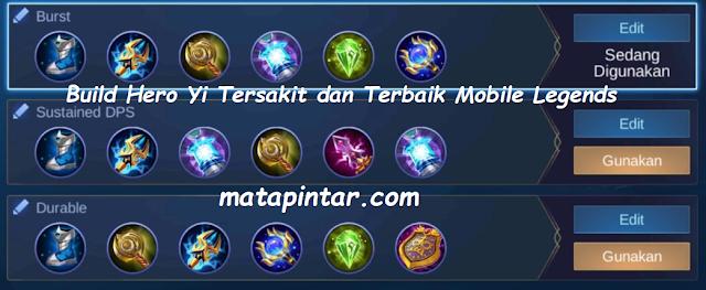 Build Hero Yi Tersakit dan Terbaik Mobile Legends