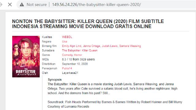 Nonton Film The Babysitter Killer Queen (2020) Sub Indo Full Movie | Link 2021