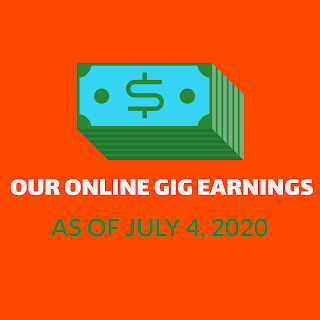 Our Online Gig Earnings As Of July 4, 2020