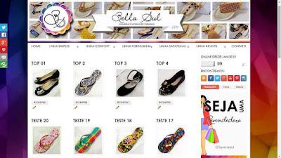 Criação de Site para Industria de Calçados