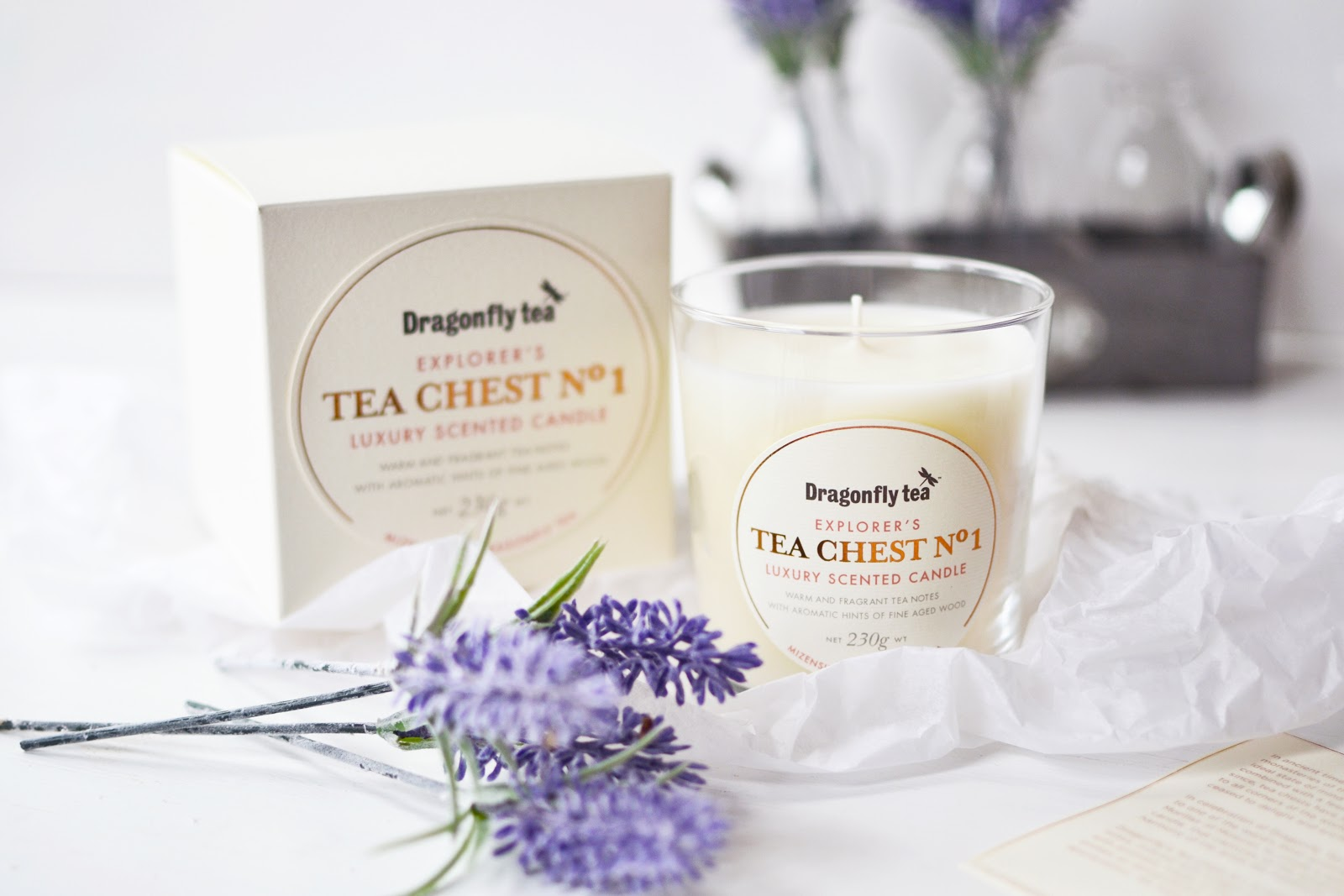 Dragonfly Tea Luxury Tea & Candle Gift Set